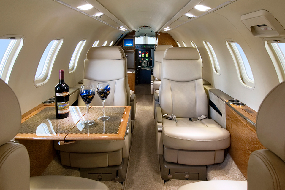 Global Aviation's Lear 45XR offers luxury accommodation for up to 9 passengers