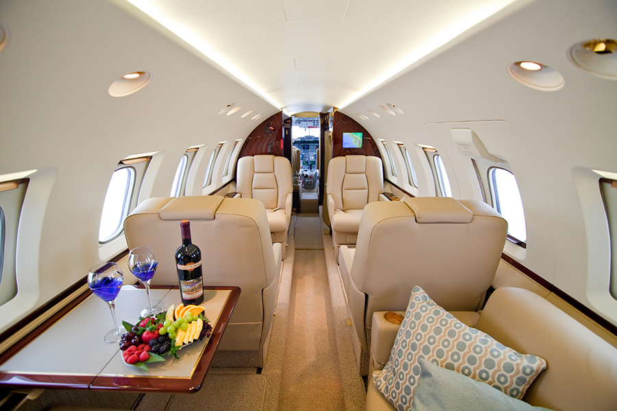 Hawker 800SP interior at Global Aviation