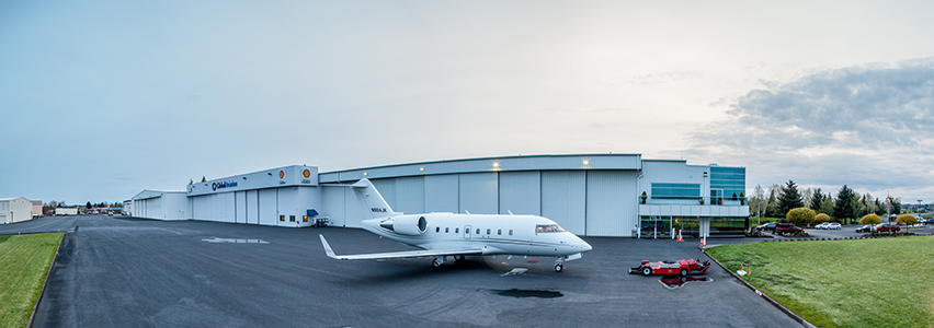 Global Aviation hangar space available at HIO